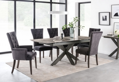 Vida Living Valerius 170cm-220cm Grey Extending Dining Table