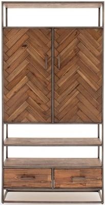 Vida Living Vanya Light Brown Display Cabinet