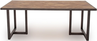 Vida Living Vanya 200cm Acacia Light Dining Table