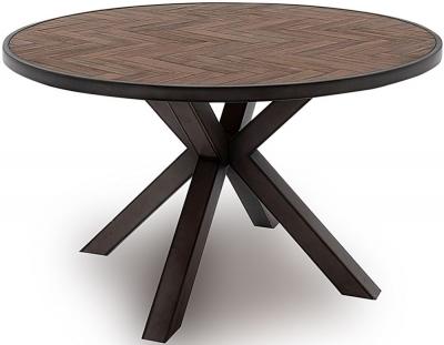 Vida Living Vanya 130cm Acacia Light Round Dining Table