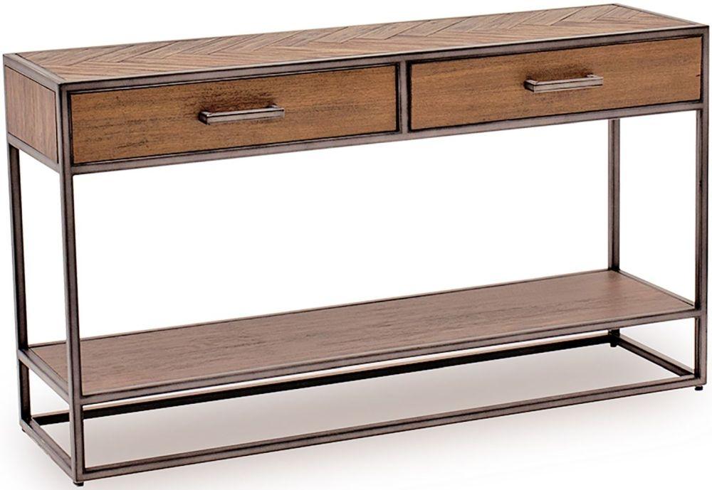 Vida Living Vanya Acacia Light Console Table