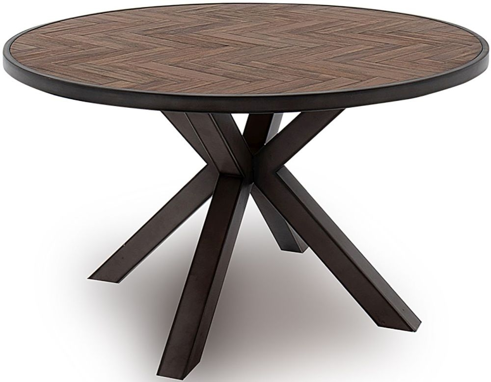 Vida Living Vanya Light Brown Round Dining Table