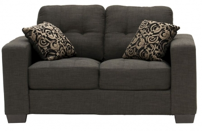 Vida Living Vivaldi 2 Seater Fabric Sofa - Grey