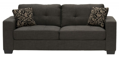 Vida Living Vivaldi 3 Seater Fabric Sofa - Grey
