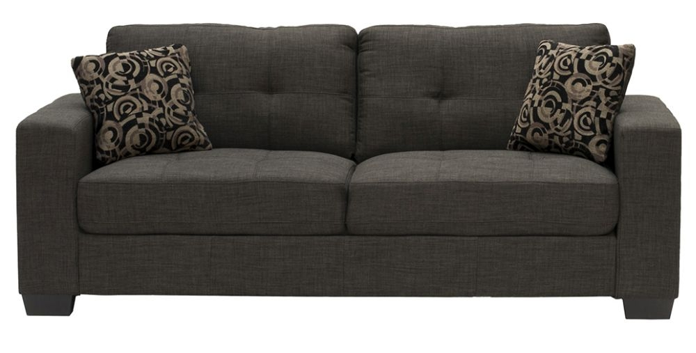 Vida Living Vivaldi Grey 3 Seater Fabric Sofa