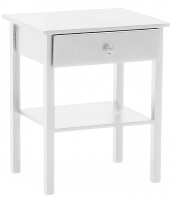 Vida Living Willow White Painted Bedside Table
