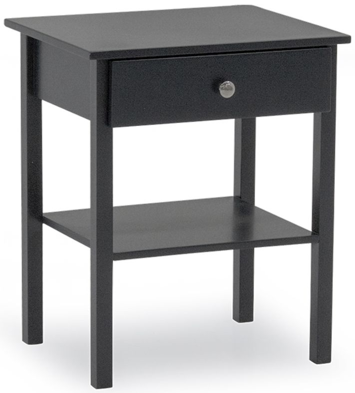 Vida Living Willow Grey 1 Drawer Bedside Table