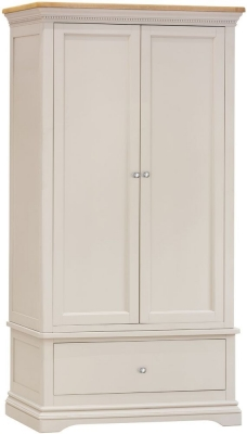 Vida Living Winchester 2 Door Wardrobe - Oak and Silver Birch