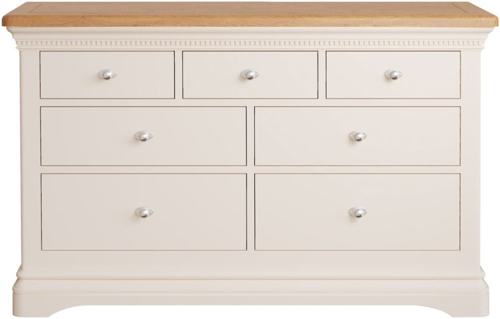 Vida Living Winchester 3+4 Drawer Chest - Oak and Silver Birch