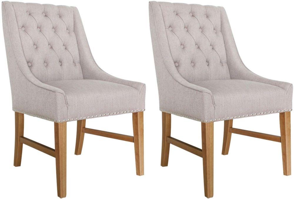 Vida Living Winchester Buff Linen Dining Chair (Pair)