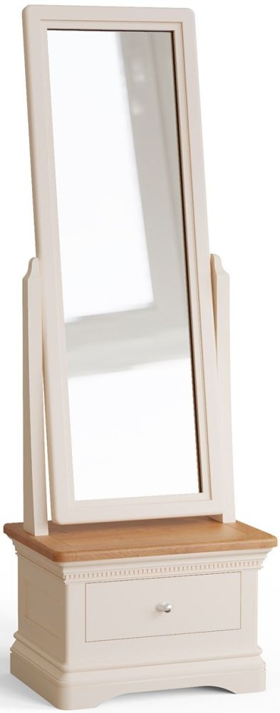 Vida Living Winchester Cheval Mirror - Oak and Silver Birch