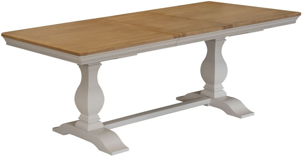 Vida Living Winchester Extending Dining Table - Oak and Silver Birch