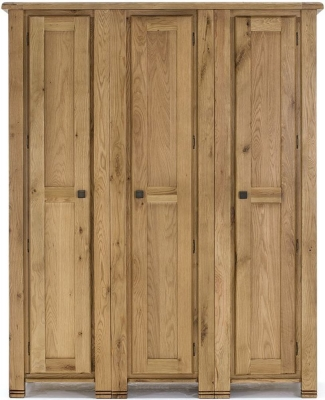 Vida Living York Oak 3 Door Wardrobe