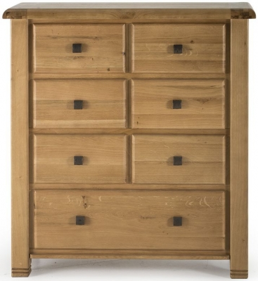Vida Living York Oak Chest of Drawer - 7 Drawer Tall