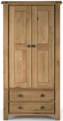 Vida Living York Oak Wardrobe - 2 Door 2 Drawer