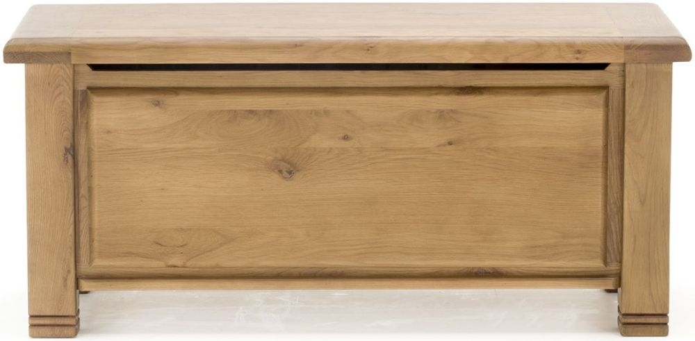 Vida Living York Oak Blanket Box