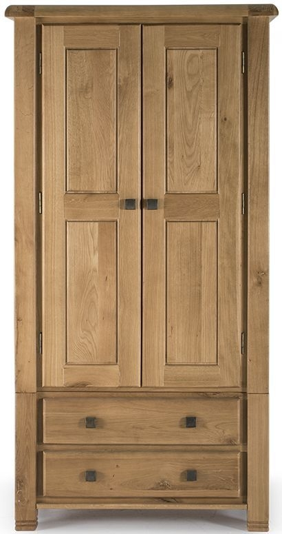 Vida Living York Oak 2 Door 2 Drawer Wardrobe