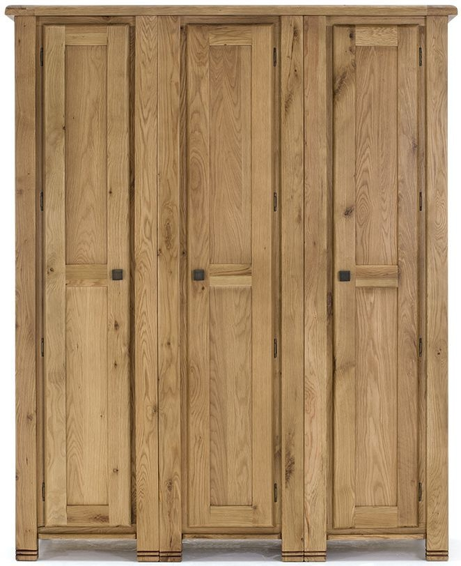 Vida Living York Oak Wardrobe - 3 Door