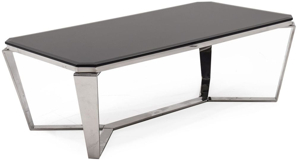 Vida Living Zola Coffee Table - Glass and Chrome