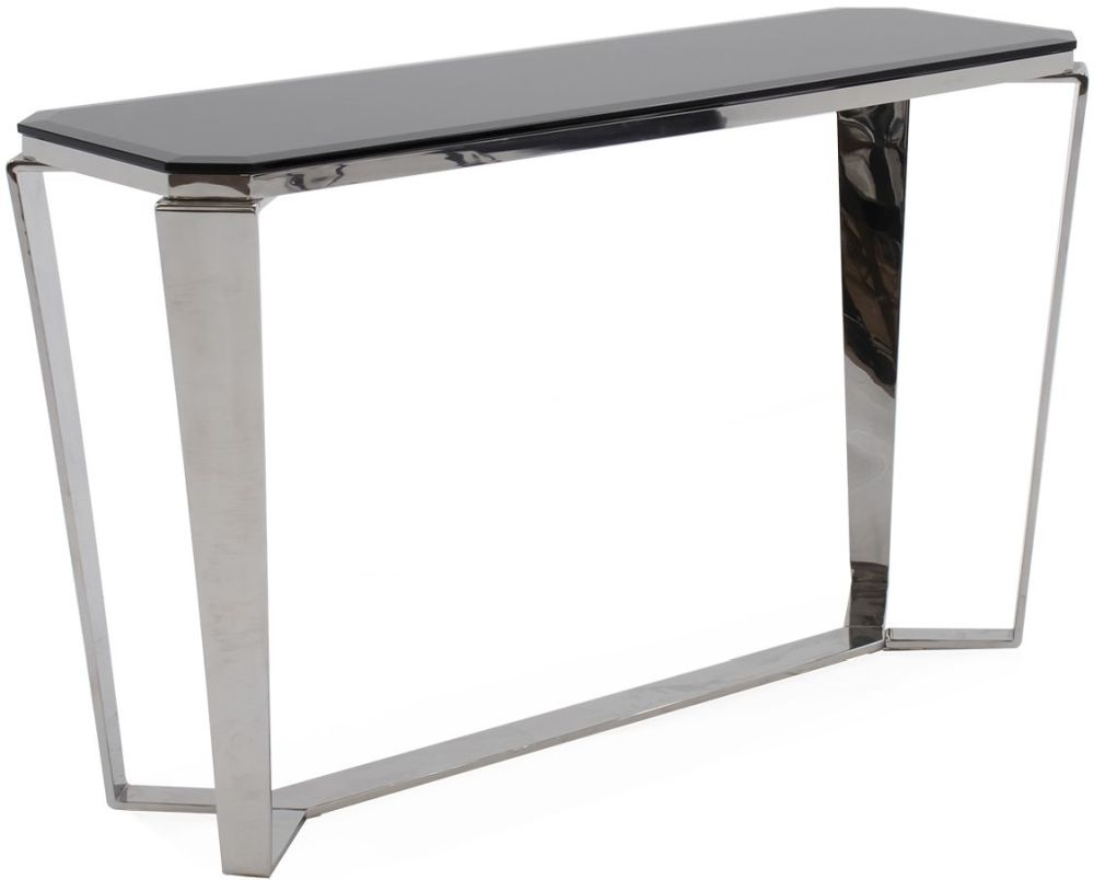 Vida Living Zola Console Table - Glass and Chrome