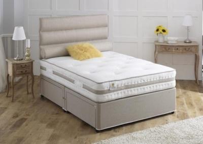 Vogue Airstream Bliss 1000 Pocket Spring Platform Top Fabric Divan Bed