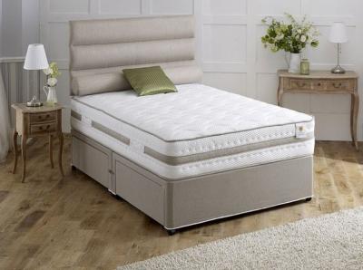 Vogue Airstream Bliss 1500 Pocket Spring Platform Top Fabric Divan Bed