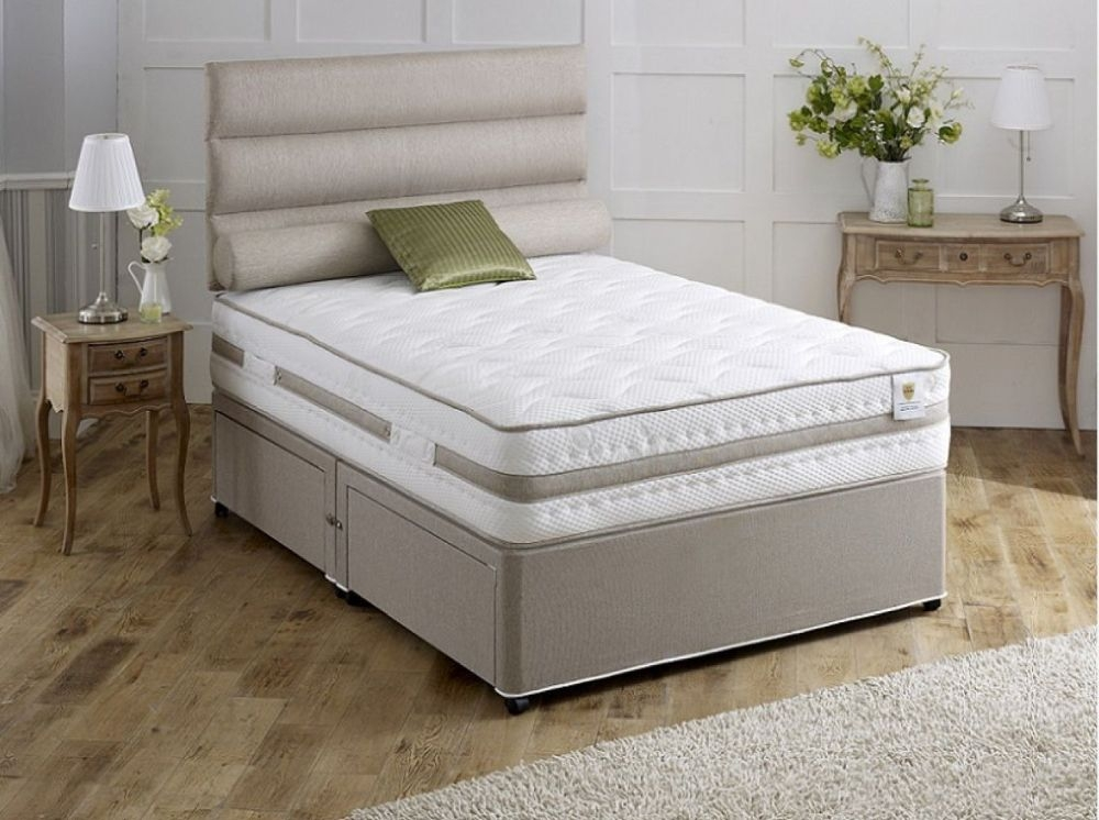 Vogue Airstream Bliss 2000 Pocket Spring Platform Top Fabric Divan Bed