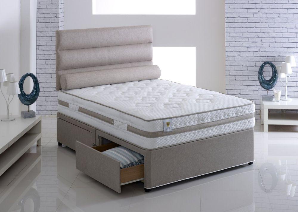 Vogue Airstream Grace Spring Platform Top Fabric Divan Bed