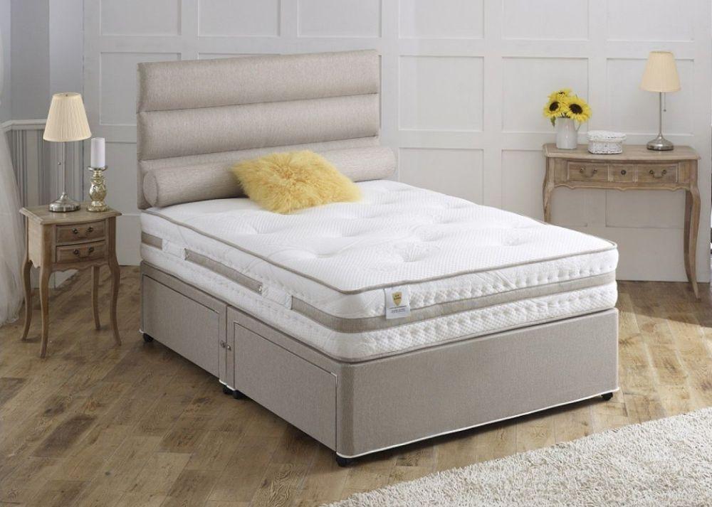 Vogue Airstream Karma 1000 Pocket Spring Platform Top Fabric Divan Bed