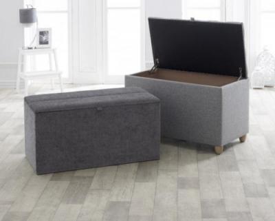 Vogue Nova Chenille Steel Fabric Blanket Box