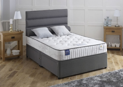 Vogue Blu Cool Memory Foam Vascopaedic with Open Coil Fabric Divan Bed