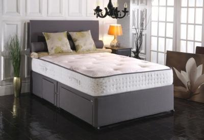 Vogue Blu Cool Memory Foam Windsor 1000 Pocket Spring Platform Top Fabric Divan Bed