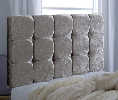 Vogue Premium Diamante Chenille Champagne Fabric Headboard