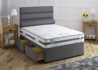 Vogue Gravity Gel Feel Cloud 1500 Pocket Spring Platform Top Fabric Divan Bed