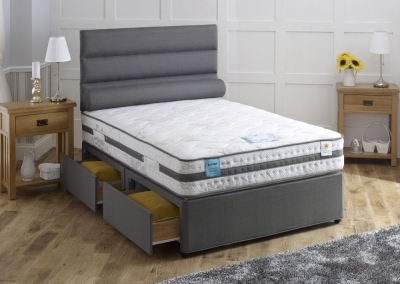 Vogue Gravity Gel Feel Cloud 2000 Pocket Spring Platform Top Fabric Divan Bed