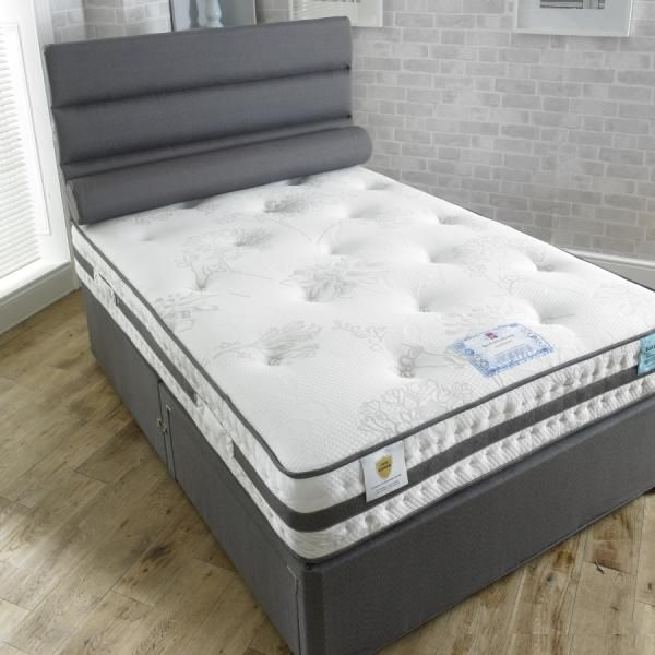 Vogue Gravity Gel Feel Cloud 1000 Pocket Spring Platform Top Fabric Divan Bed