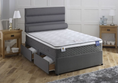 Vogue Byron Star 2000 Pocket Spring Fabric Divan Bed with Encapsulation Surround