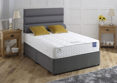 Vogue Rapture Star 800 Pocket Spring Fabric Divan Bed with Encapsulation Surround