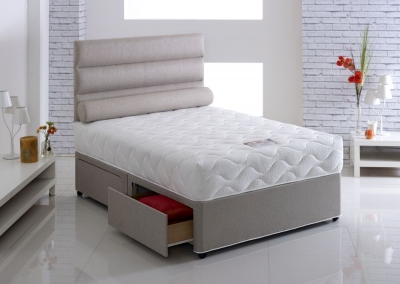 Vogue Harmony 800 Pocket Spring Fabric Divan Bed with Encapsulation Surround