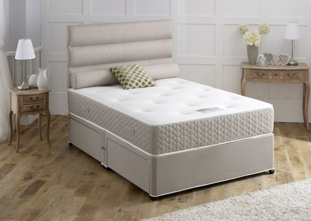 Vogue Sapphire Star 1500 Pocket Spring Fabric Divan Bed with Encapsulation Surround