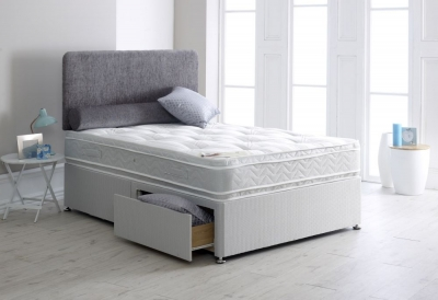 Vogue Orthopaedic 1000 Pocket Spring Platform Top Fabric Divan Bed