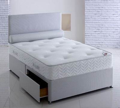 Vogue Orthopaedic Delia Fabric Divan Bed