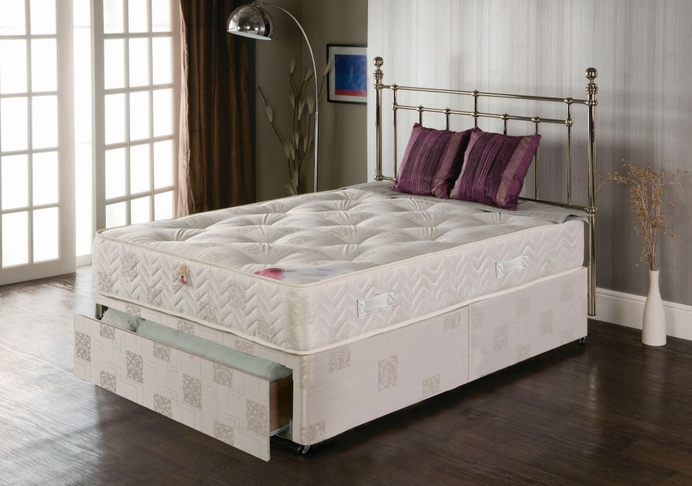 Vogue Orthopaedic Plasma Star Fabric Divan Bed