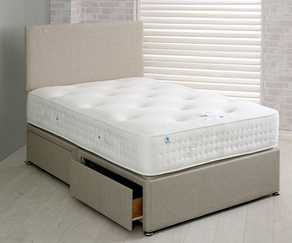 Vogue Warwick 1500 Pocket Spring Platform Top Fabric Divan Bed
