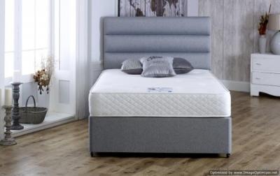 Vogue Gel Feel Deluxe 1000 Pocket Spring Platform Top Fabric Divan Bed