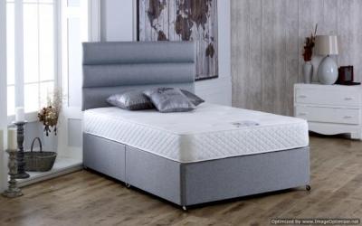 Vogue Latex Deluxe 1000 Pocket Spring Platform Top Fabric Divan Bed