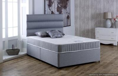 Vogue Latex Relax Pocket Spring Platform Top Fabric Divan Bed