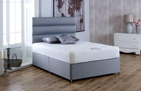 Vogue Memory Deluxe 1000 Pocket Spring Platform Top Fabric Divan Bed