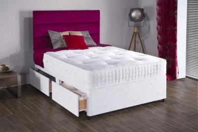 Vogue Summer and Winter Diamond 2000 Pocket Spring Platform Top Fabric Divan Bed