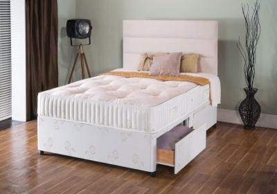 Vogue Summer and Winter Diamond 1000 Pocket Spring Platform Top Fabric Divan Bed